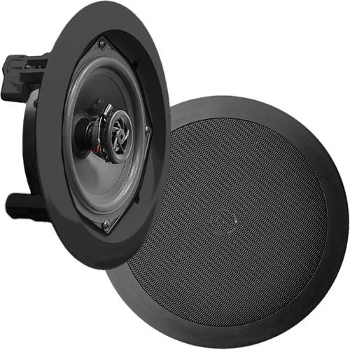 "Pyle Pro PDICRDBK 5.25"" In-Wall/In-Ceiling 150W 2-Way Stereo Speakers (Pair, Black)"