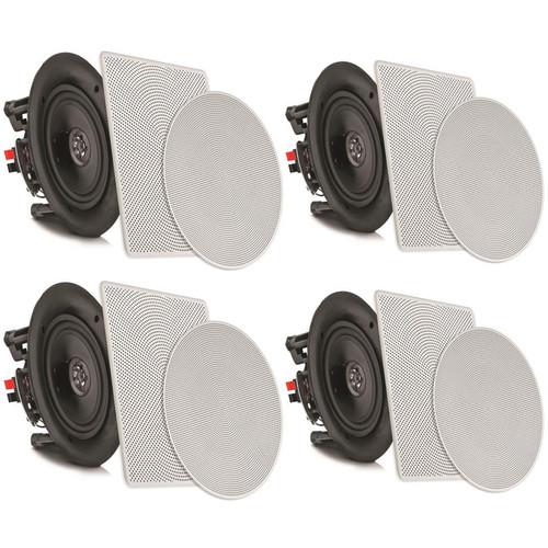 "Pyle Pro PDICBT2106 4 x 10"" Bluetooth Ceiling / Wall Speaker Kit (4-Pack)"