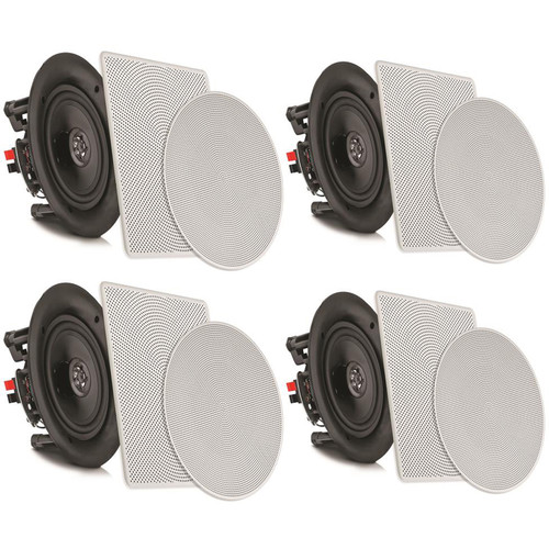 "Pyle Pro PDICBT266 6.25"" Bluetooth Ceiling / Wall Speaker Kit (4-Pack)"