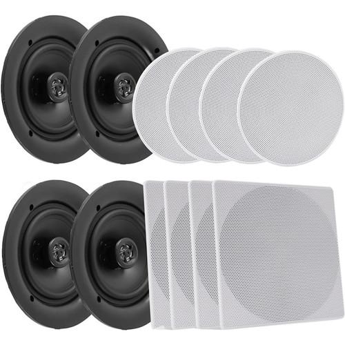 "Pyle Pro PDICBT286 8.0"" Bluetooth Ceiling / Wall Speaker Kit (4-Pack)"