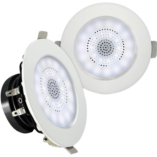 "Pyle Pro PDICBTL3F 3"" Bluetooth Ceiling/Wall Speakers with LED Light (Pair)"