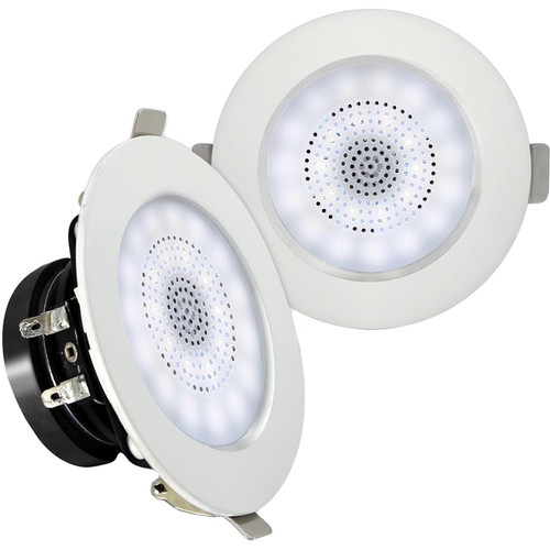 """Pyle Pro PDICLE3FR 3.0"""" Aluminum Alloy Frame Ceiling/Wall Speakers with LED Light (Pair)"""