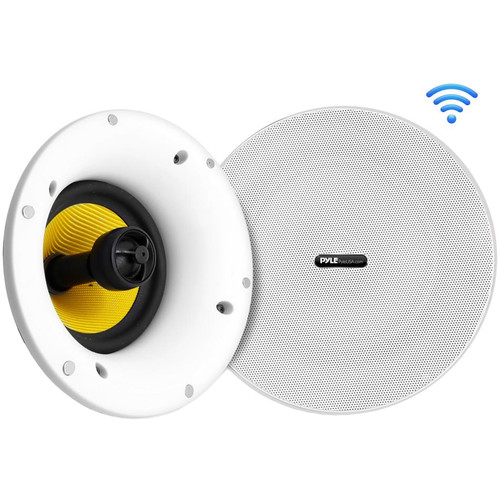 """Pyle Pro 270W Home In-Wall / In-Ceiling 6.5"""" Speakers with Bluetooth & Wi-Fi (Pair)"""