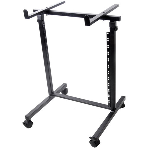 Pyle Pro Universal Open-Frame Rack Shelf and Equipment/Device Stand (12U)