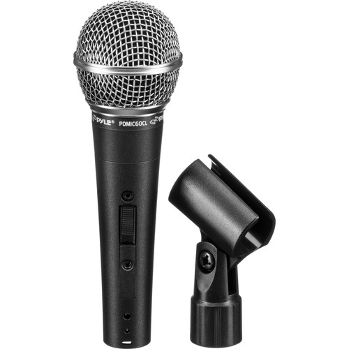 "Pyle Pro PDMIC60CL Dynamic Handheld Microphone with On/Off Switch and XLR to 1/4"" Cable"