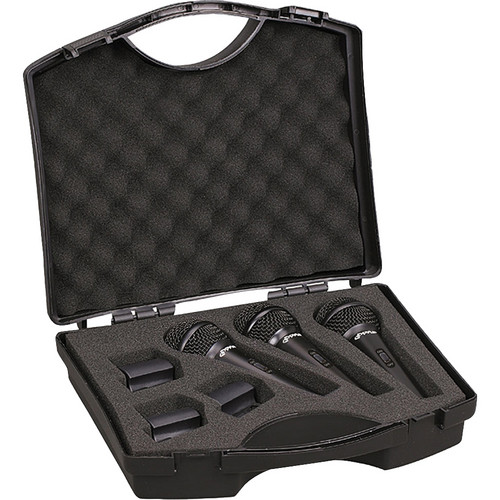 Pyle Pro PDMICKT80 Microphone Kit with Clips and Case (3-Pack)