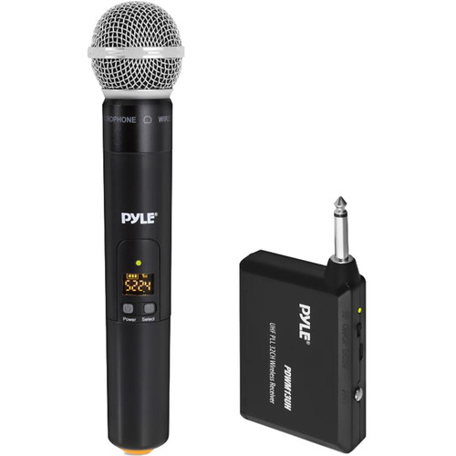 "Pyle Pro UHF PLL 32-Channel Wireless Handheld Microphone System with 1/4"" Receiver"