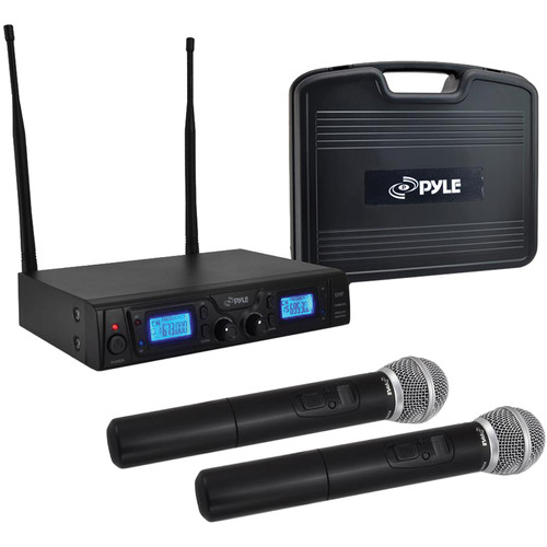 Pyle Pro PDWM3360 Dual Handheld UHF Wireless Microphone System