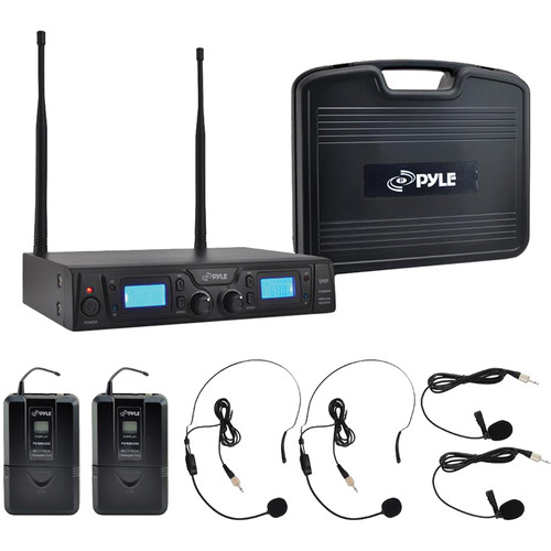 Pyle Pro Premier Rackmount UHF Wireless Microphone System