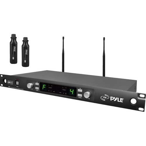 Pyle Pro PDWM3450 UHF Wireless Microphone System With 2 Plug-In XLR Transmitters