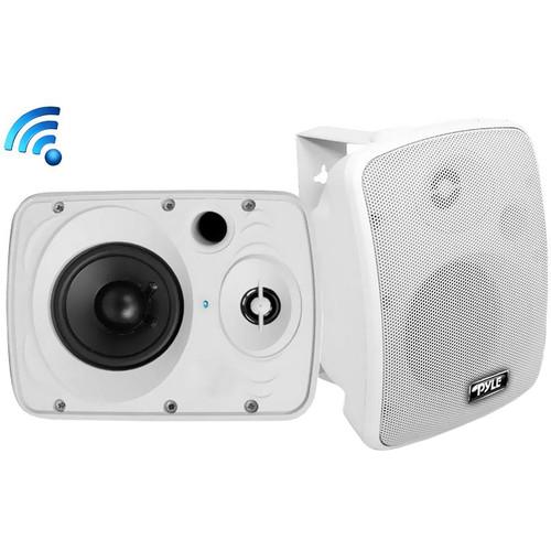 "Pyle Pro 5.25"" Indoor/Outdoor Waterproof & Bluetooth Speaker System (White,  Pair)"