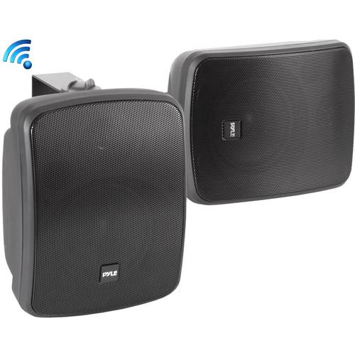 """Pyle Pro 5.25"""" 800 Watt Wall-Mount Marine Speakers with BT Audio RF Streaming (Black) (Pair)"""