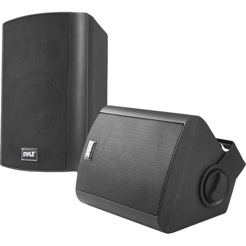 """Pyle Pro 6.5"""" Bluetooth Wall Mount Waterproof & Bluetooth Speakers (Black, Pair)"""