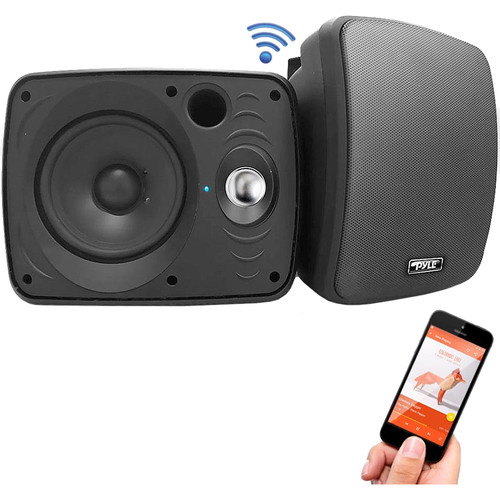 "Pyle Pro 6.5"" 800W Indoor/Outdoor Bluetooth Speakers (Black, Pair)"