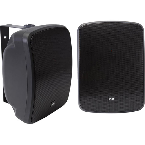 """Pyle Pro 6.5"""" 1000 Watt Wall-Mount Marine Speakers with BT Audio RF Streaming (Black) (Pair)"""