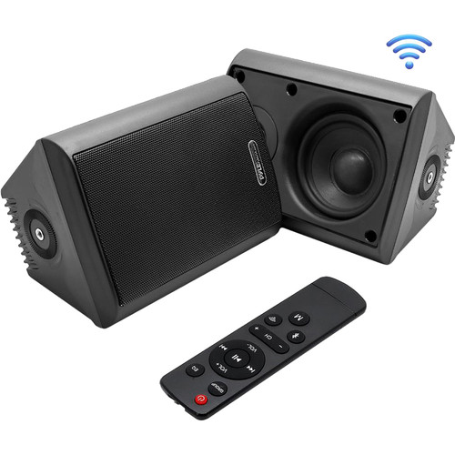 Pyle Pro 6.5Wall-Mount Waterproof Speaker System with BT Audio RF Streaming (Black) (Pair)