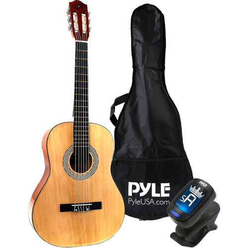 """Pyle Pro 6-String Classic 3/4 Scale Guitar (36"""") with Accessories"""