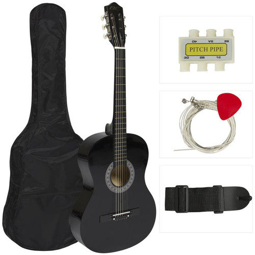 Pyle Pro Beginner's Nylon-String Acoustic Guitar Kit with Gig Bag, Strap, and Tuner