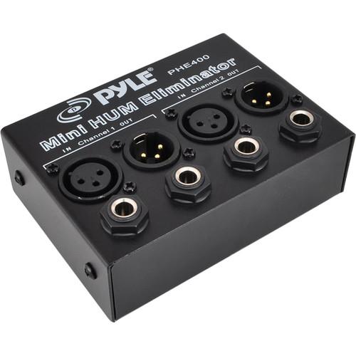 Pyle Pro PHE400 Mini 2-Channel Hum Eliminator