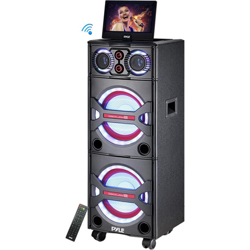 Pyle Pro PKRK215 - 2000W Bluetooth Portable Karaoke System with Built-In Screen