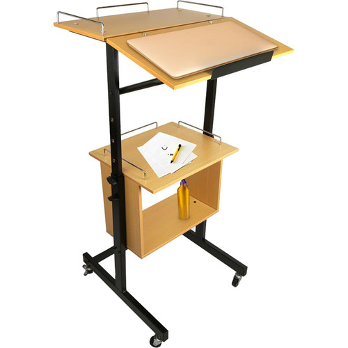 Pyle Pro Wheeled Announcement and Presentation Cart