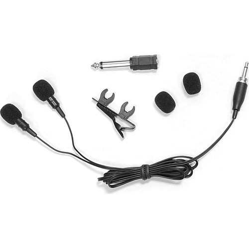 Pyle Pro Dual Electret Condenser Cardioid Lavalier Microphone for 3.5mm Systems (Black)