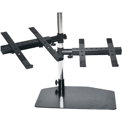 Pyle Pro Universal Dual Device Holder Stand with Tabletop Mount Base