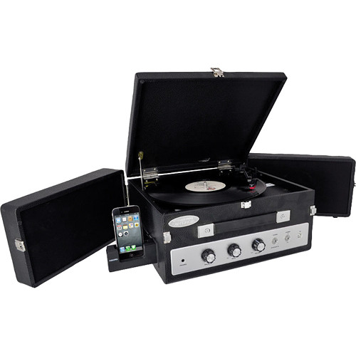 Pyle Pro PLTTB8UI Vinyl Turntable Record Player with Dual Fold-Out Speakers