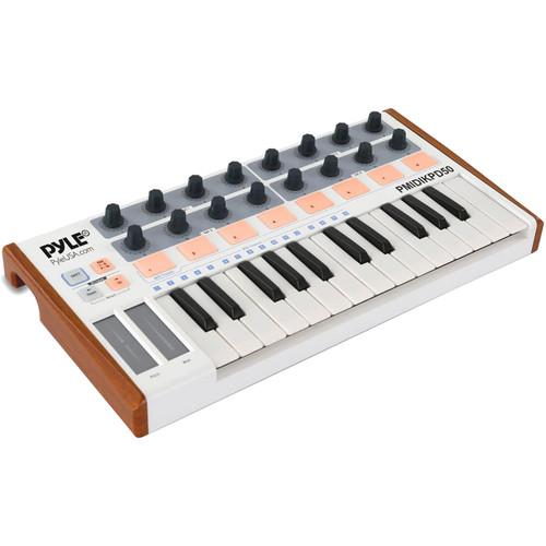 Pyle Pro PMIDIKPD50 MIDI Keyboard System and Digital USB Controller Interface