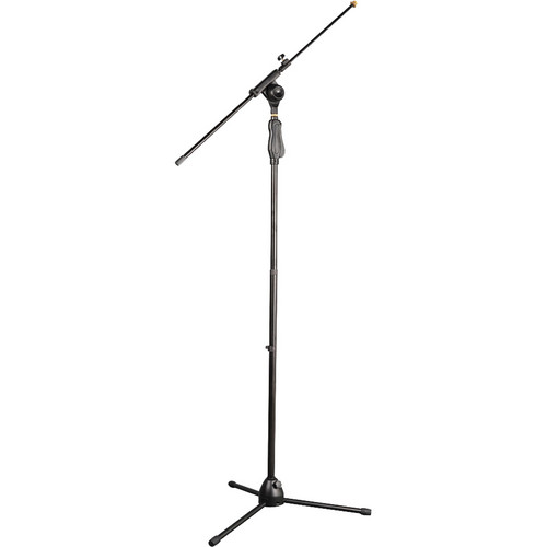 Pyle Pro Universal Easy Grip Tripod Microphone Stand with Push Height Adjustment & Extension