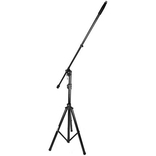 Pyle Pro Adjustable & Foldable Tripod Microphone Stand with Microphone Boom Mount