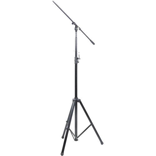 Pyle Pro PMKS56 Heavy-Duty Tripod Mic Stand with Adjustable Height and Extendable Boom (Black)
