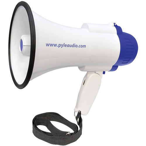 Pyle Pro PMP38R 30-Watt Megaphone/Bullhorn with Lithium Rechargeable Battery