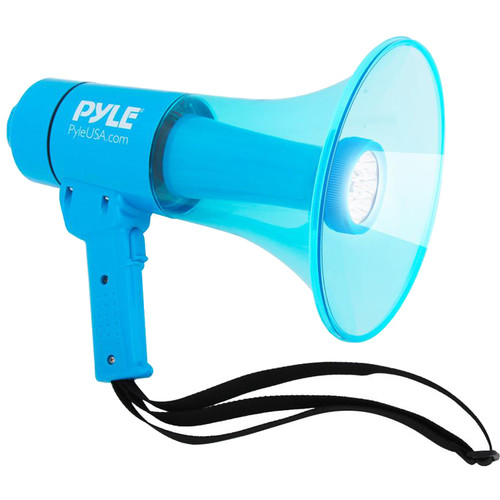 Pyle Pro PMP66WLT 40W Waterproof Megaphone with Siren and LED Lights (Blue)
