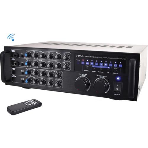 Pyle Pro Bluetooth Stereo Karaoke Mixer/Amplifier (1000W)