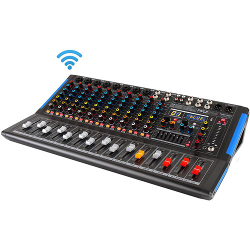 Pyle Pro 12-Channel Bluetooth Studio Mixer and DJ Controller Audio Mixing Console System