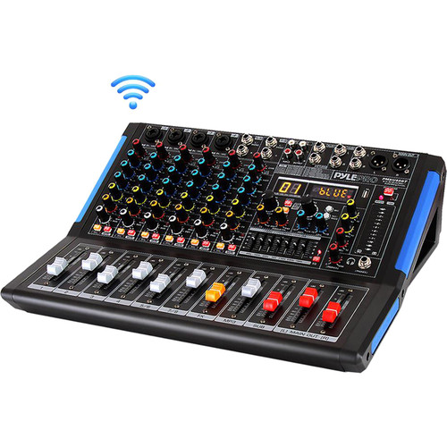 Pyle Pro 8-Channel Bluetooth Studio Mixer and DJ Controller Audio Mixing Console System