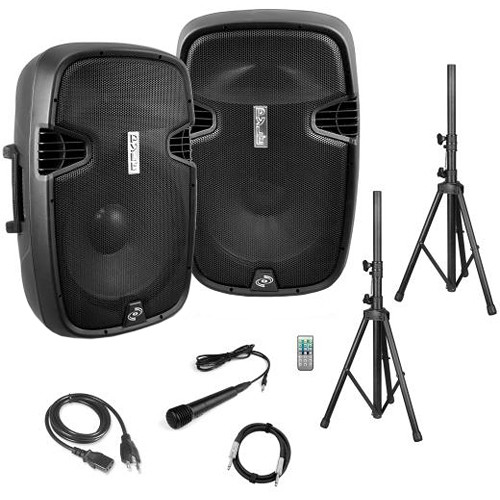 """Pyle Pro 10"""" Active + Passive PA System Package Kit"""