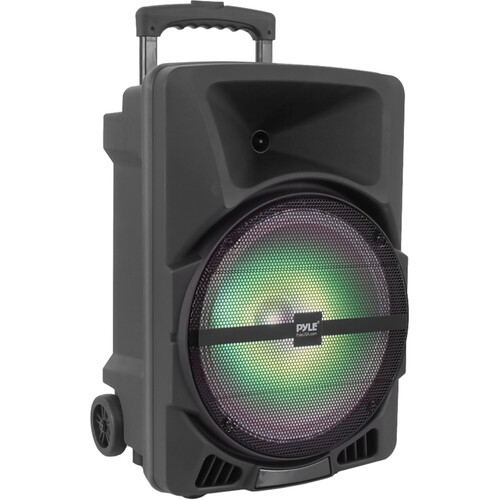 "Pyle Pro PPHP1244B 12"" 2-Way 800W Portable Bluetooth PA Speaker with Light Show"