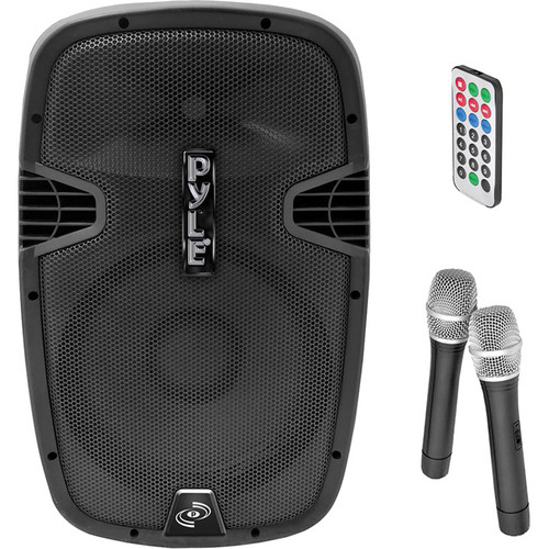 "Pyle Pro PPHP129WMU 12"" 1000W Bluetooth Streaming Portable Loudspeaker System with Dual Handheld Wireless Mics"