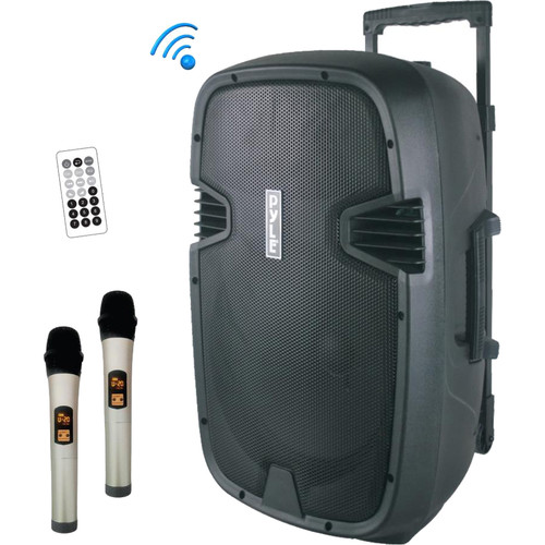 """Pyle Pro PPHP1535WMU Portable 15"""" 2-Way 1600W Wireless and Bluetooth-Enabled PA System"""