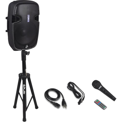 "Pyle Pro PPHP155ST 15"" 1500W Bluetooth Portable PA Loudspeaker System with 35mm Speaker Stand"