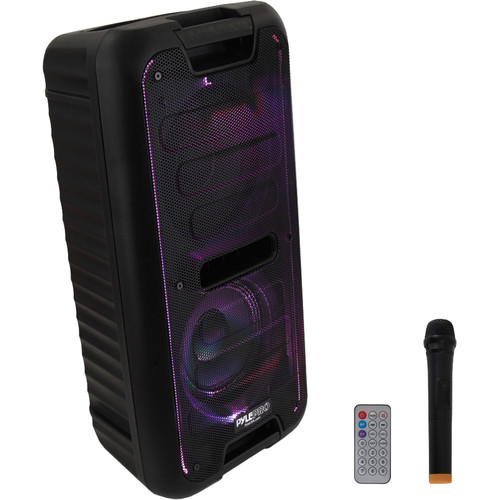 """Pyle Pro PPHP28BA 2x8"""" 2-Way 400W Portable Bluetooth PA Speaker with Wireless Handheld Microphone"""