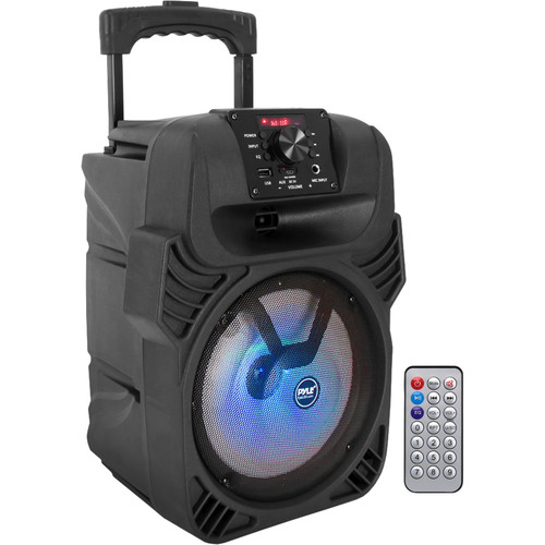 "Pyle Pro PPHP844B 8"" 2-Way 400W Bluetooth PA Speaker with Light Show"