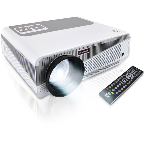 Pyle Pro PRJAND615 Hi-Res Smart Wi-Fi Projector with Android CPU & Blu-ray Support
