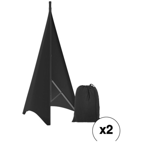 Pyle Pro PSCRIM2B Kit with 2 Double-Sided Scrims for Tripod Stands (2-Sided, Black)