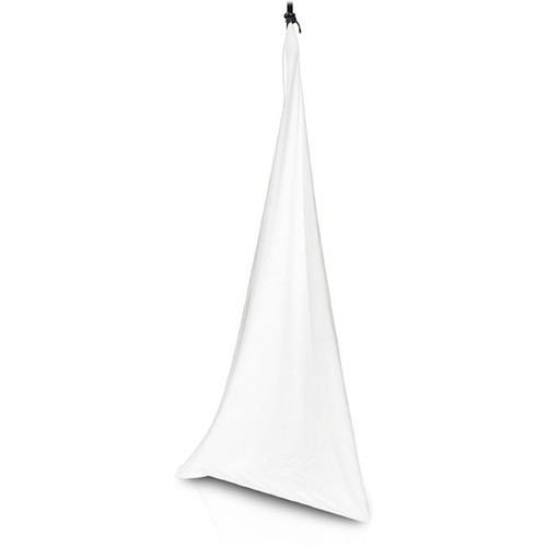 Pyle Pro PSCRIM3W Universal DJ Speaker / Light Stand Scrim for Tripod Stand (3-Sided, White)