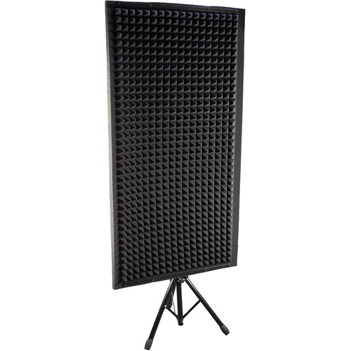 Pyle Pro PSIP24 Sound Absorbing Wall Panel Studio Foam Acoustic Isolation & Dampening Wedge with Stand