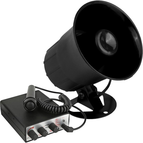 Pyle Pro PSRNTK28 Siren Horn Speaker with Handheld PA Microphone