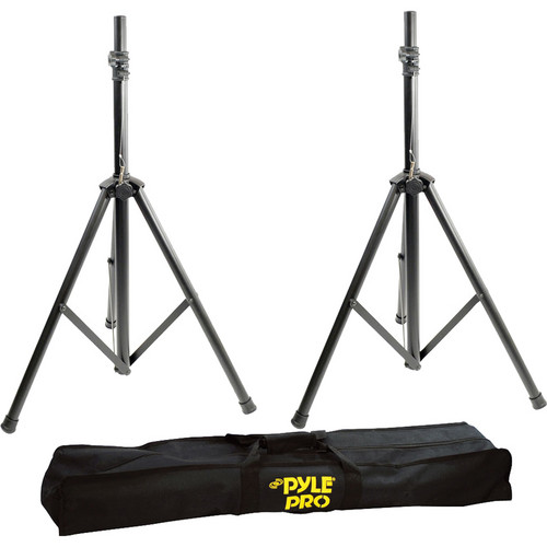 Pyle Pro PSTK103 Heavy-Duty 8' Dual Speaker Stands with Traveling Bag Kit
